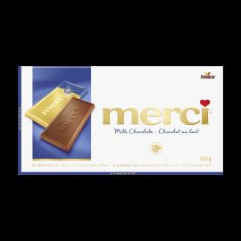 merci Barres de Chocolat au Lait 100g