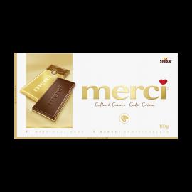 merci Barres de Chocolat Café-Crème 100g