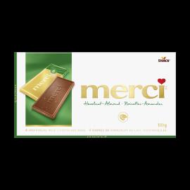 merci Barres de Chocolat Noisettes-Amandes 100g