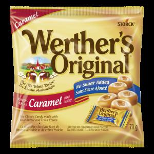 Bonbons durs au caramel sans sucre ajouté