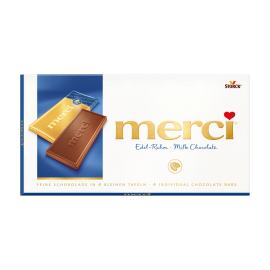 Barras de Chocolate de Leite merci