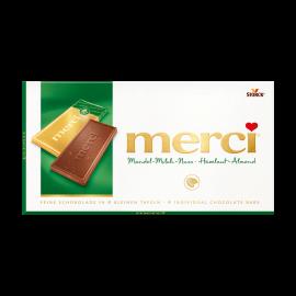 merci tabletă de ciocolată - lapte, alune și migdale 100g