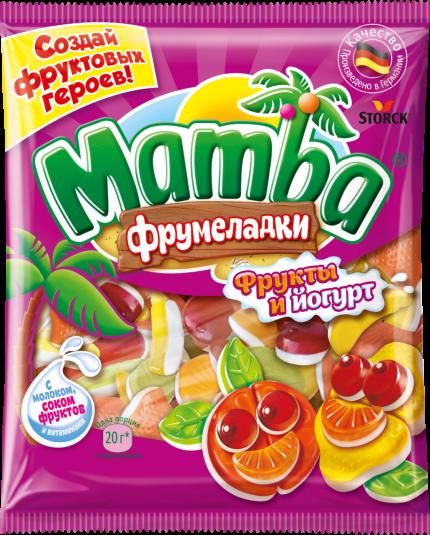 Mamba Фрумеладки «Фрукты и йогурт» 72г