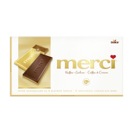 merci tabuľková čokoláda kávová